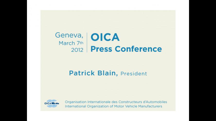 OICA: prodotte 80,1 milioni di auto nel 2011