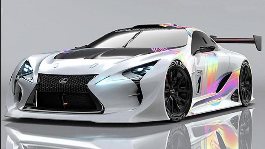 Lexus LF-LC GT Vision Gran Turismo, prove di supercar