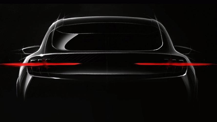 Ford's Mustang-inspired EV officially teased for first time