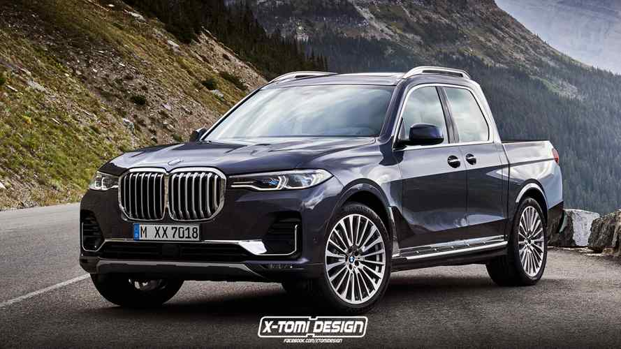 BMW X7 pickup rendering