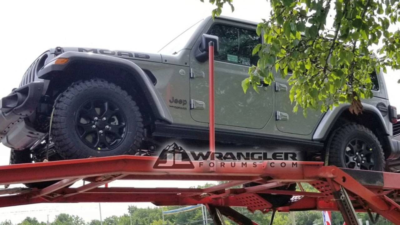 Jeep Wrangler Unlimited Moab Spy Shot