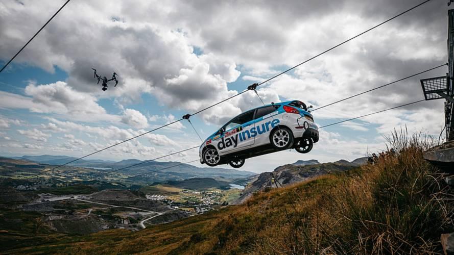 Fiesta Rally Car Zip Line Stunt