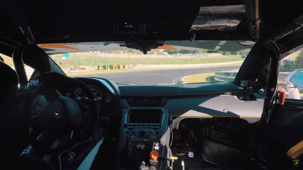 Watch Lamborghini Aventador Svj Break Nurburgring Record In 6 44 97