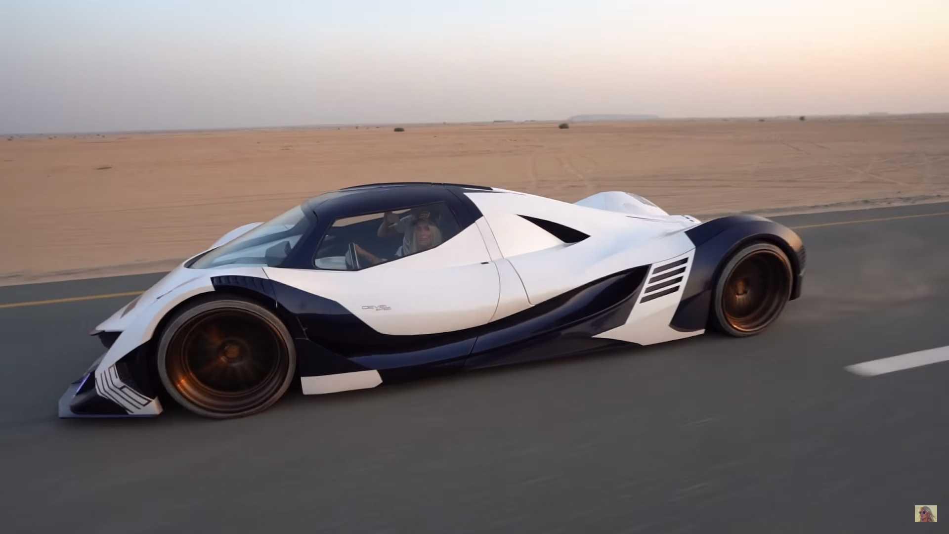 See The Devel Sixteen Stampeding Desert Roads Outside Dubai