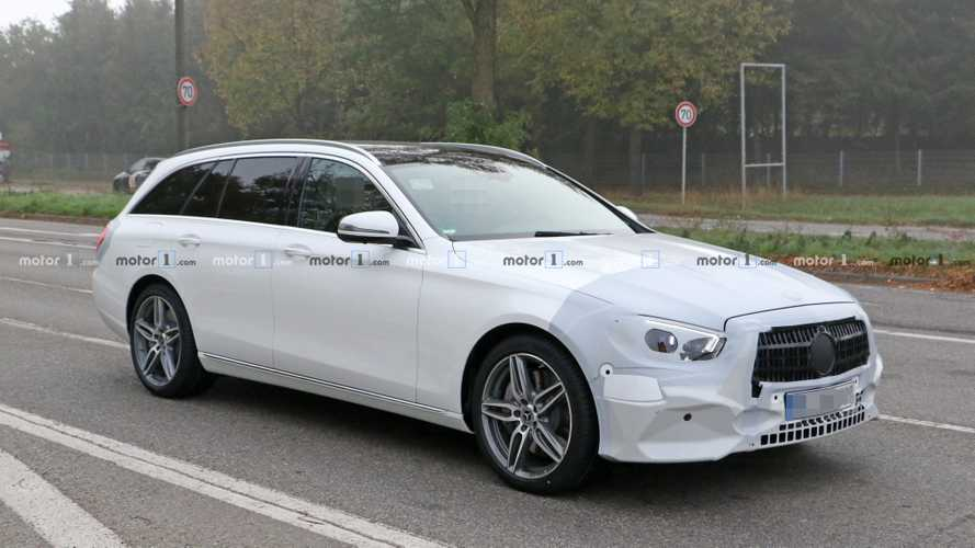 2020 Mercedes E-Class Estate spied dressed in white