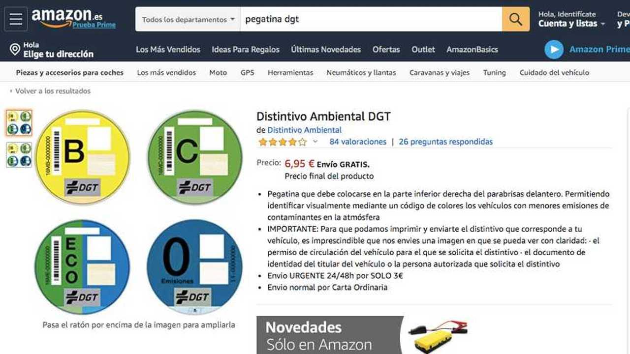 Etiqueta ambiental DGT, Amazon