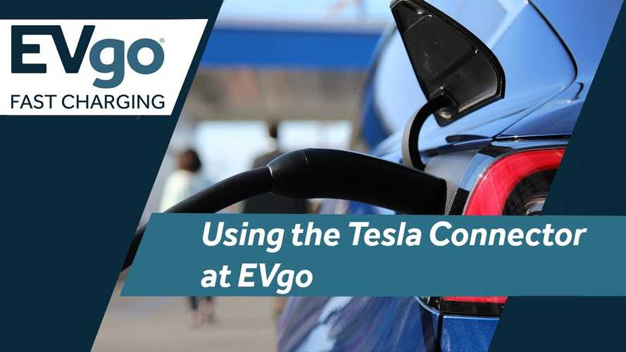 First Look At EVgo Fast Charging With New Built-In Tesla Connector
