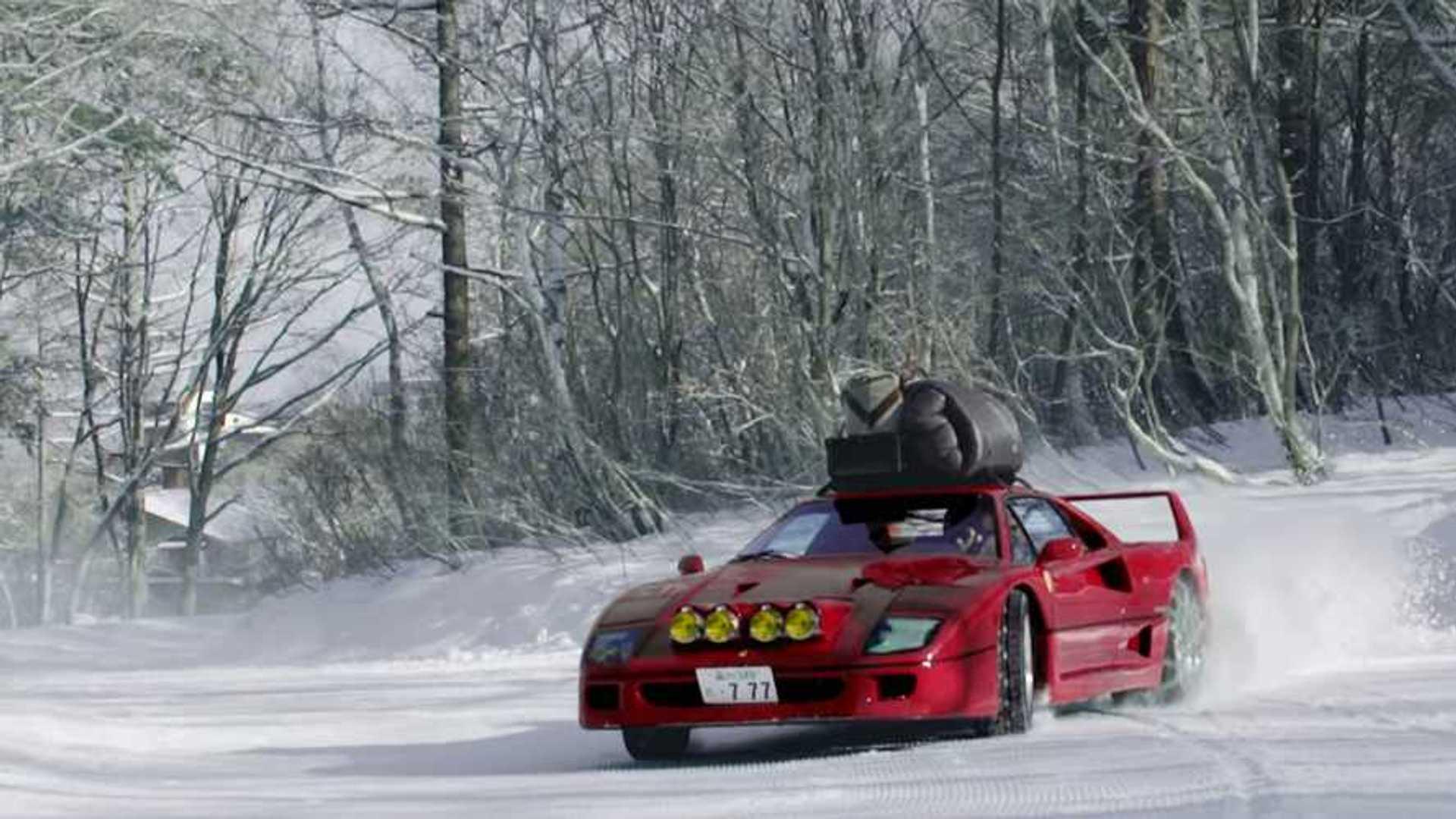 Watch A Ferrari F40 Snow Drift In Japan