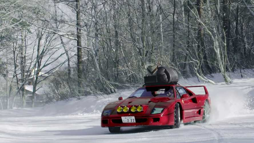 Watch A Ferrari F40 Snow Drift In Japan