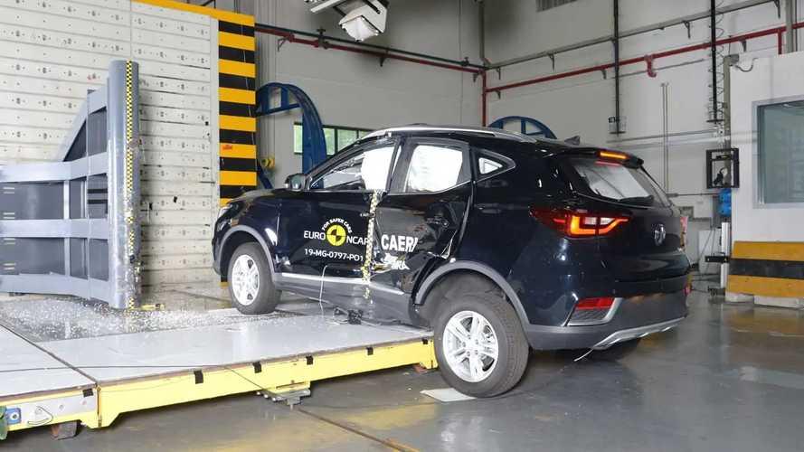MG ZS EV im EuroNCAP-Crashtest (2019)