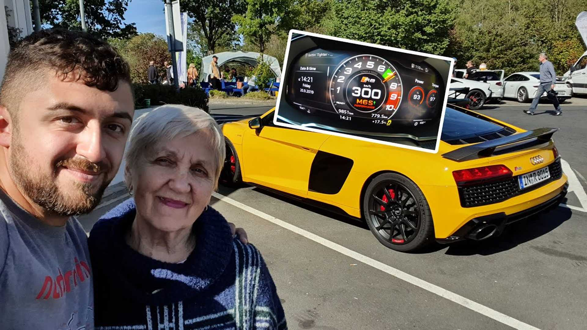 80-year-old grandma unfazed at 186 mph on the Nurburgring