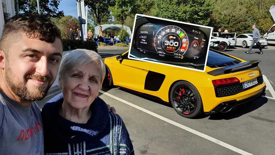 80-Year-Old Grandma Unfazed While Nephew Does 186 MPH In Audi R8