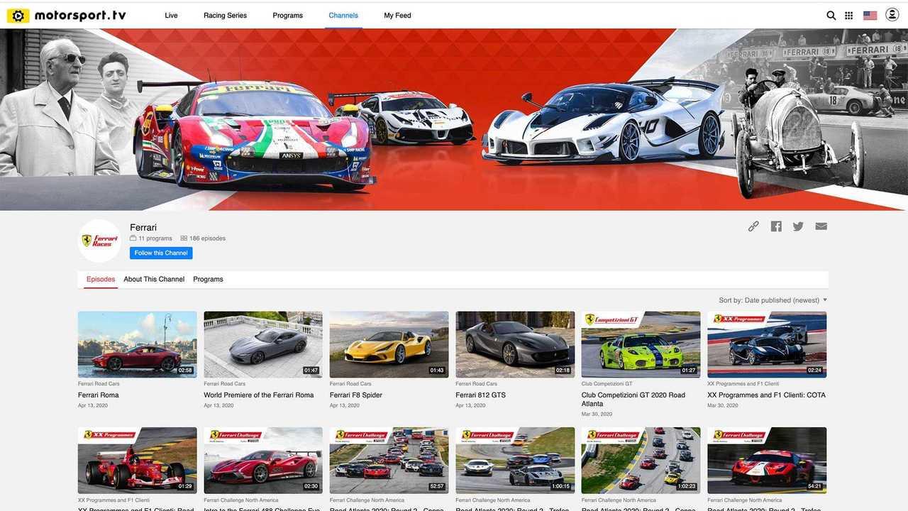 Offizieller Ferrari-Channel auf Motorsport.tv