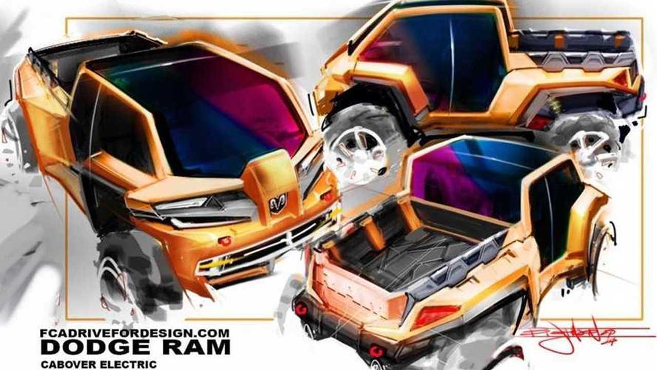 Electric Ram Truck Render