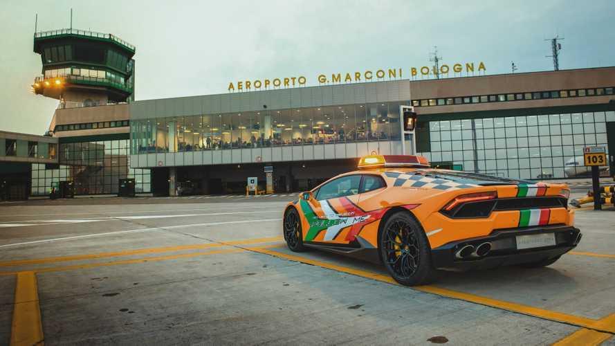 Lamborghini Huracan à l'aéroport de Bologne