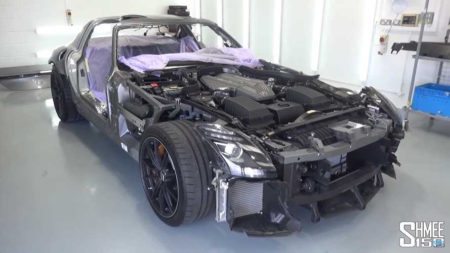 Stripped-down Mercedes SLS AMG Black Series