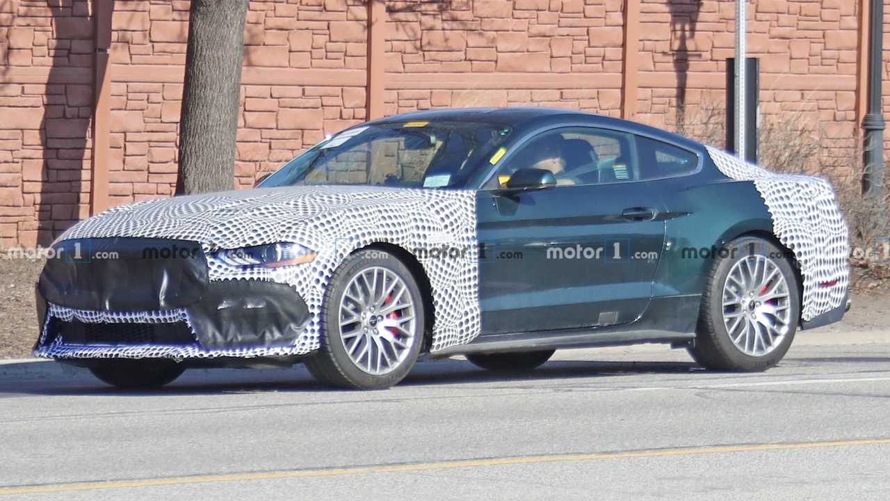 mysterious ford mustang bullitt spied  could be mach 1