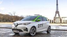 Renault ZOE in ZITY car sharing fleet in Paris, France