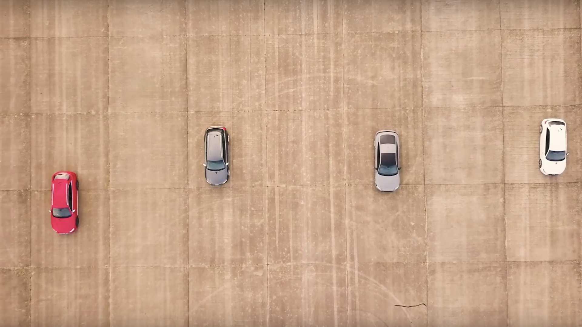 Audi RS5 vs RS3 vs S4 vs old RS4 drag race ends predictably