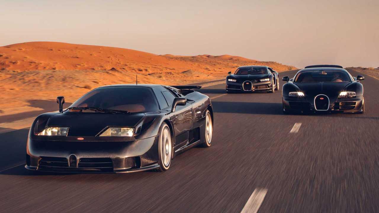 Echa un vistazo a la Bugatti Chiron, Veyron y EB110 posando en Dubai 33