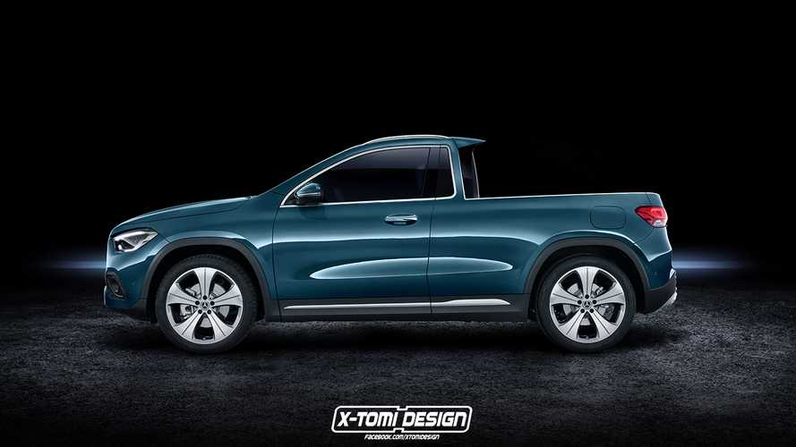 Mercedes GLA pickup looks as bright as a button