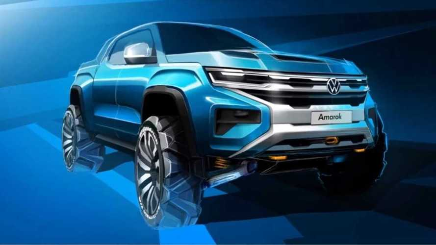 Nova Volkswagen Amarok, irmã da próxima Ranger, ganha 1º teaser