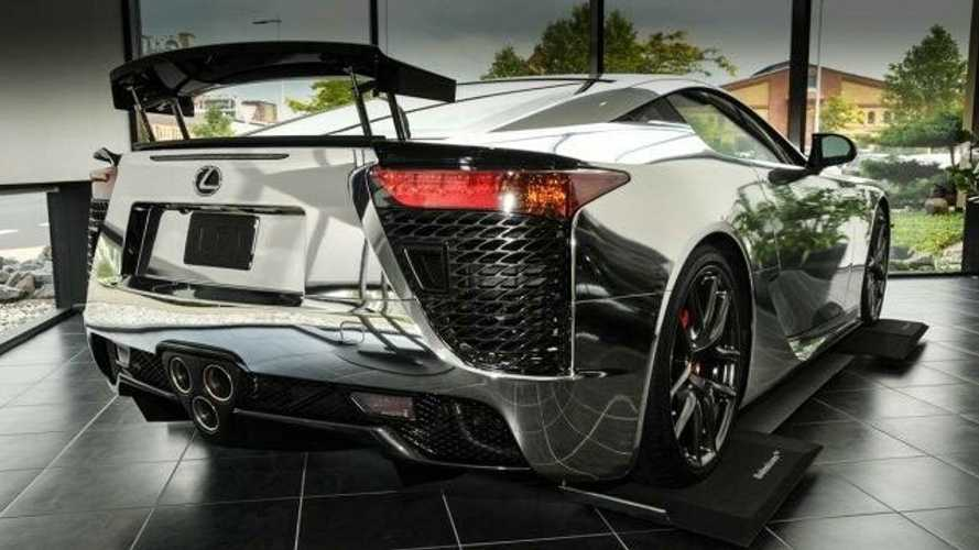 541-Mile Chrome Lexus LFA For Sale