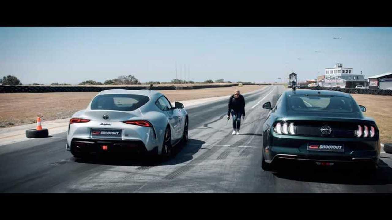 Mustang Bullitt Vs Supra Race