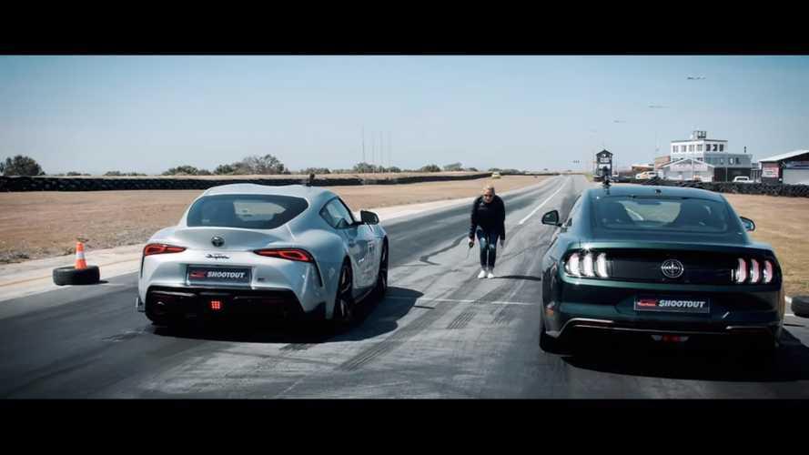 Toyota Supra, Mustang Bullitt ile drag yarışında