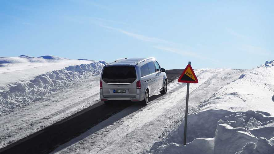 Mercedes-Benz EQV undergoing winter testing ahead of launch