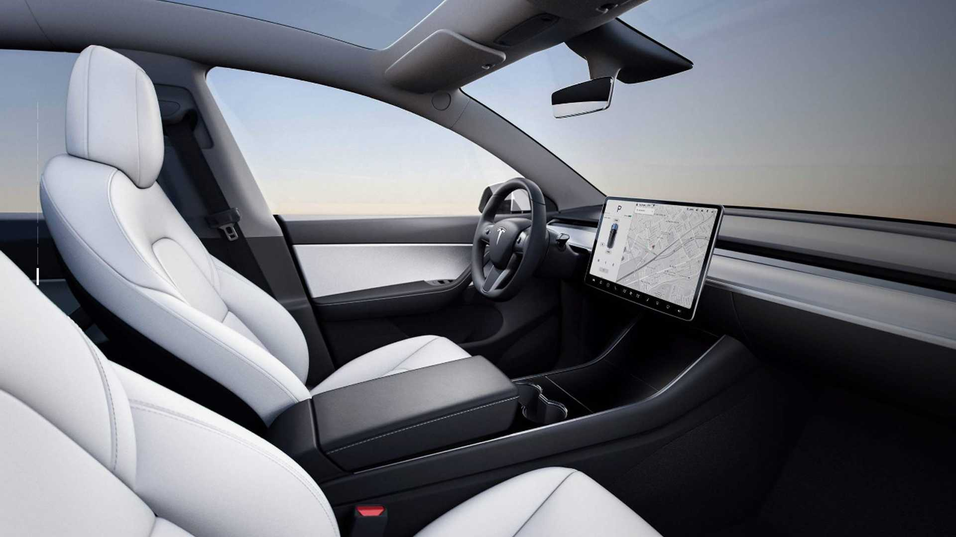 Tesla Model 3 Interior White