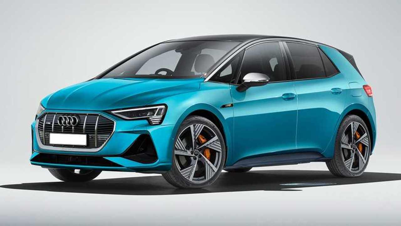 Audi E-Tron Electric Hatchback Rendering lead image