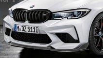 Nuova BMW M3 2021, il rendering