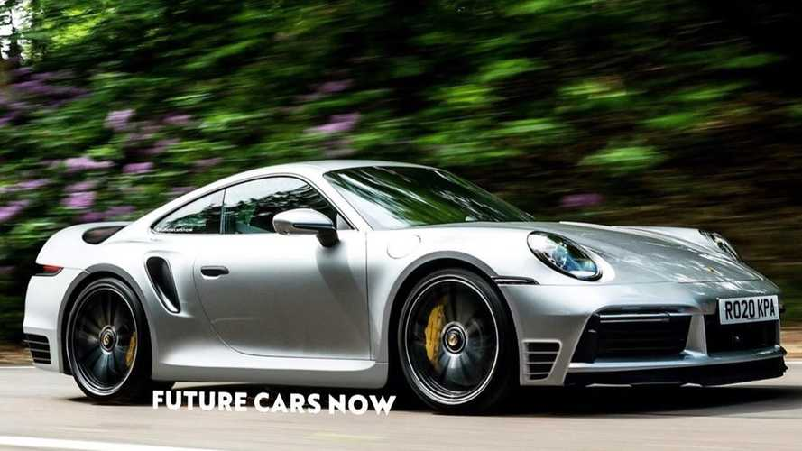 Porsche 911 Turbo S rendered into 959 homage