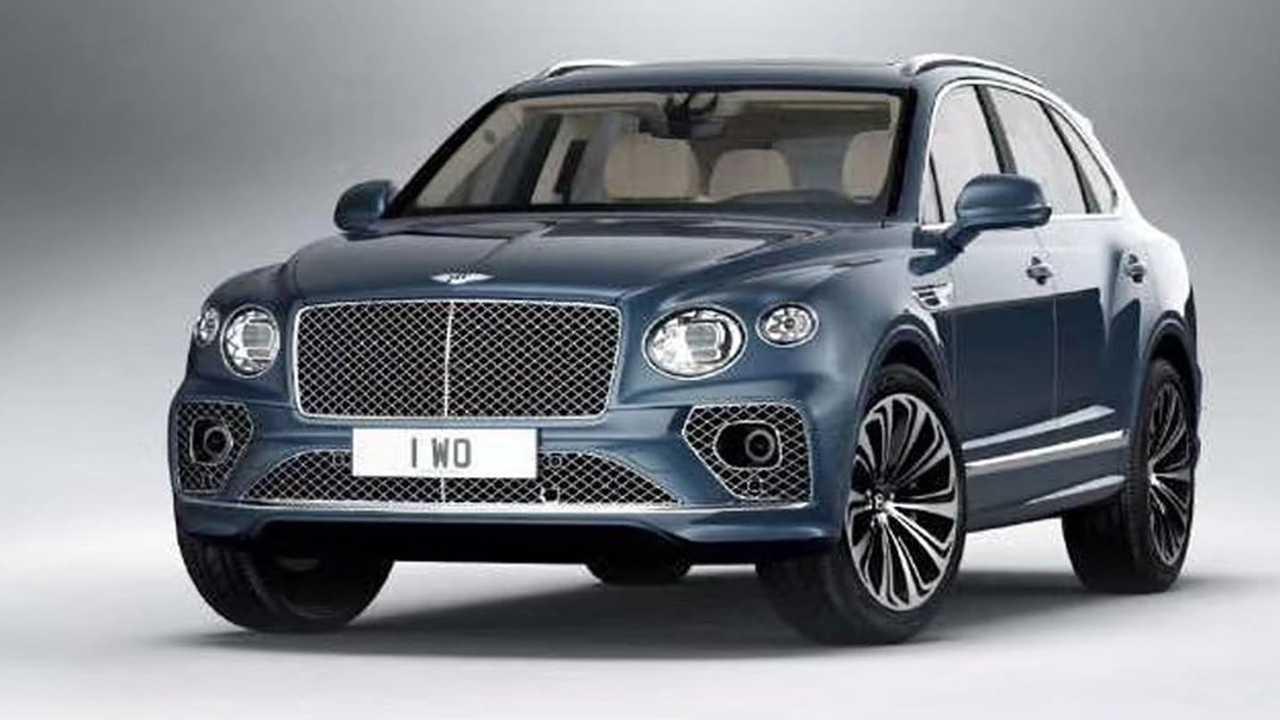 2021 Bentley Bentayga facelift leaked official image