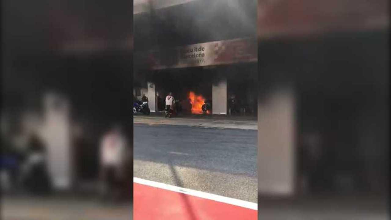 Barcelona Paddock Fire
