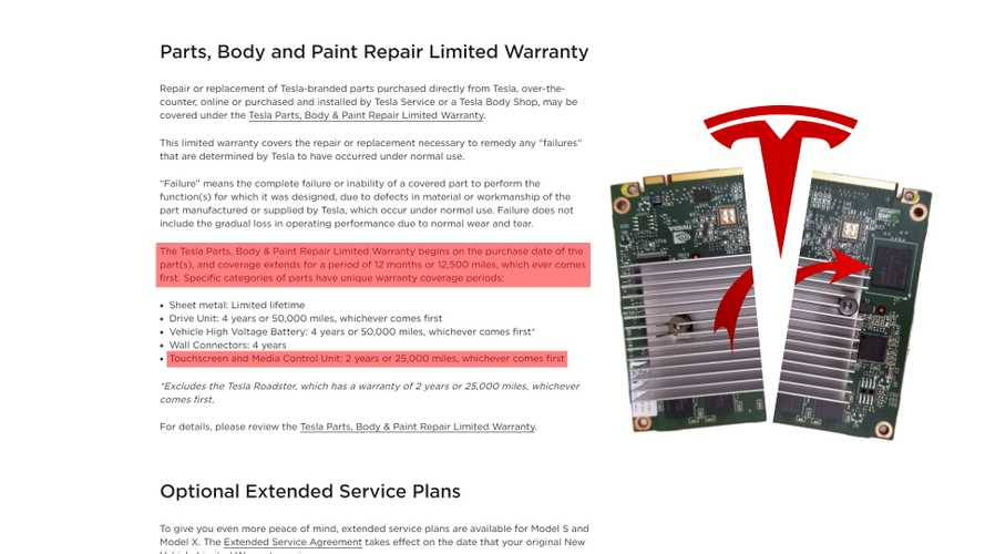 Tesla Responds To NHTSA's MCU Probe By Reducing Computer's Warranty