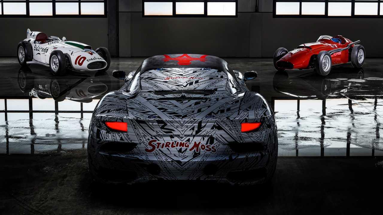 Maserati MC20 Prototípus dedikált Sir Stirling Moss