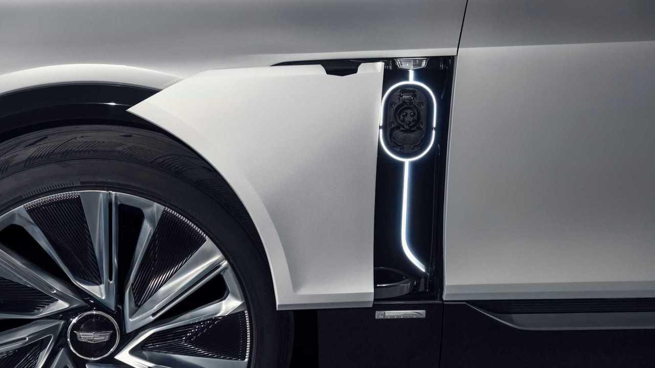 Cadillac Lyriq charging inlet