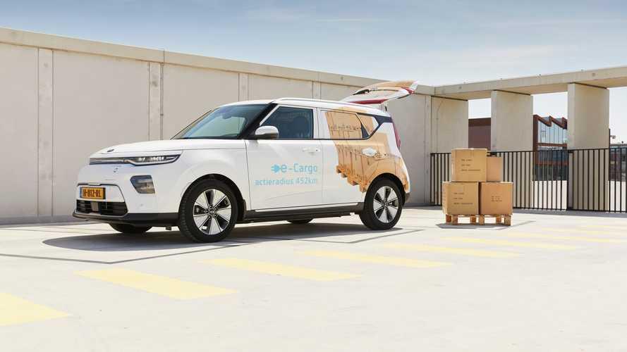 Así es el KIA e-Soul Cargo: la versión comercial para Países Bajos