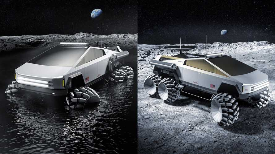 Tesla Cybertruck Six-Wheeler Moon Rover