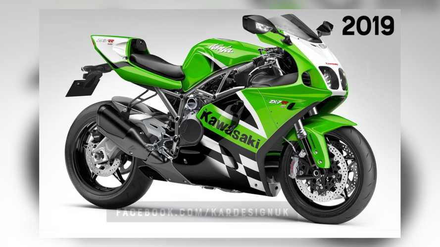 Kawasaki ZX-7R Becomes Secret Stealthy H2 Fighter In This Design