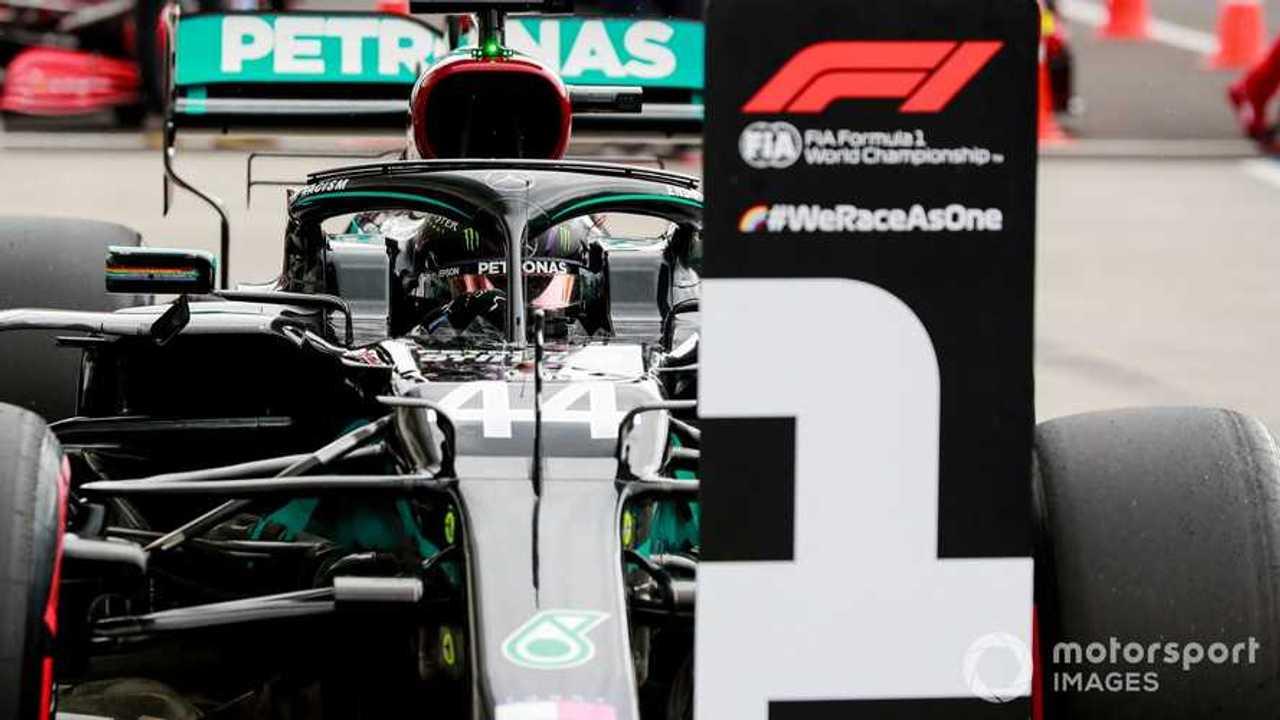 Lewis Hamilton on pole at Hungarian GP 2020