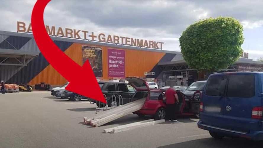 Logisztika egyes: Ezúttal egy osztrák sofőr mutatott be hajmeresztő szállítási módszert