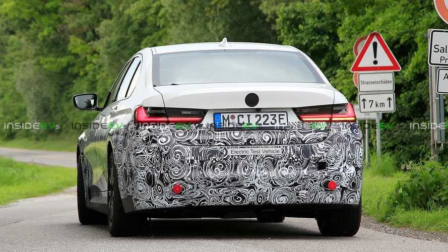 BMW 3 Series Electric Spy Shots New