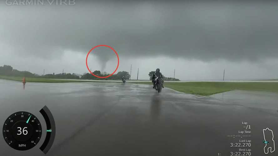 Rider Captures The Moment A Tornado Forms During Track Day
