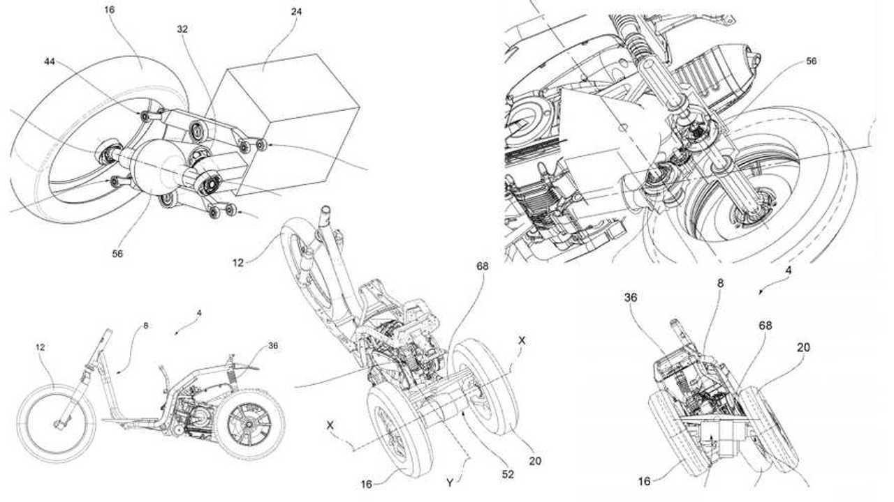 Piaggio Three Wheeler Patent