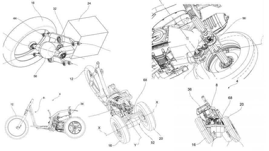 Patent Shows Piaggio's Plans For New Leaning Three-Wheeler