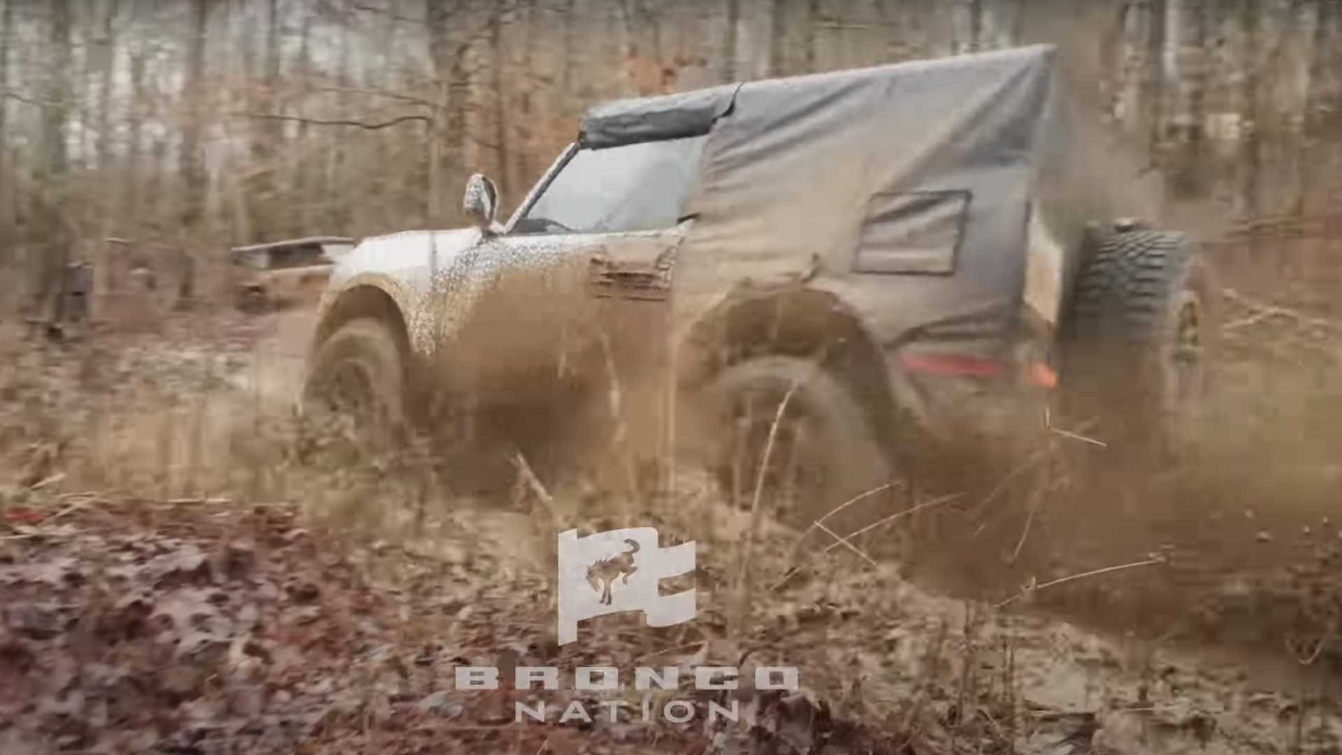 Watch 2021 Ford Bronco Get Down And Dirty In This Mud-Testing Video