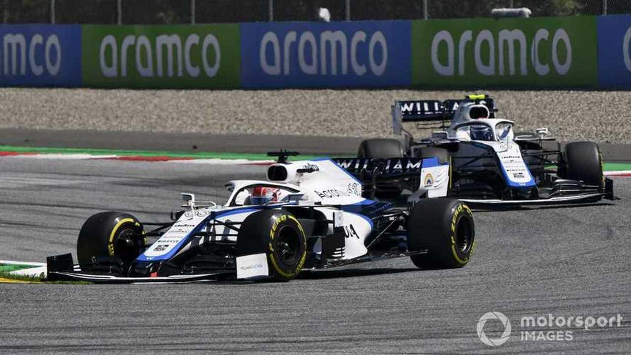 George Russell leads Nicholas Latifi at Austrian GP 2020